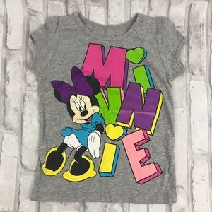 5/$25 Disney Minnie Mouse Gray Shirt